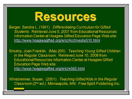 diffeiating curriculum for gifted students