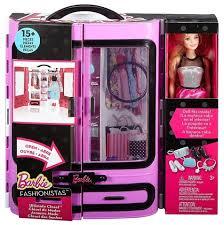 Игровой набор Mattel <b>Barbie</b> Розовый <b>шкаф</b> модницы с <b>куклой</b> ...