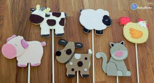 Dog Birthday Decorations Farm Animal Shapes Cake Toppers Or Party Decorations Cow Pig