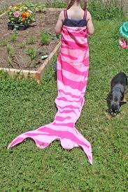 help make these dreams a reality with this mermaid tail towel tutorial