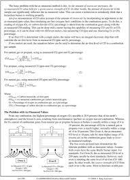 Carbon Monoxide Ppm Chart Air Free Measurement Of Carbon Monoxide Emissions From Gas