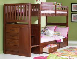 bunk bed with stairs. Merlot Stair Stepper Twin Over Bunk Bed With Stairs