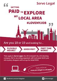 serve legal part time jobs
