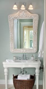 coastal style bath lighting. Coastal Inspired Bath, Pottery Barn Shell Mirror Via Kristin Peake Interiors, LLC. Style Bath Lighting B
