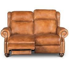 whiskey light brown leather power reclining loveseat hancock rc willey furniture