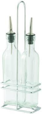 winco gobs oil and vinegar cruet set  oz  lionsdeal