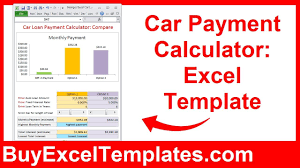 Loan Calculation Template Car Payment Calculator Calculate Monthly Auto Loan Payment Interest Excel Template Spreadsheet