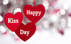 Happy Kiss Day Wishes Hanging Hearts ...