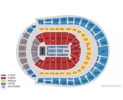 Bridgestone Arena Detailed Seating Chart