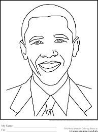 Black History Coloring Pages Obama