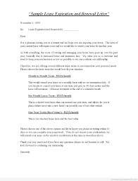 Sample Letter Not Renewing Lease Renewal Of Contract