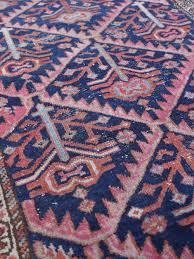vintage persian pink navy small rug for bathrooms or kitchen sink