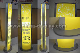 Led Light Box Display Stand Double side aluminum frame light box floor free standing indoor 74