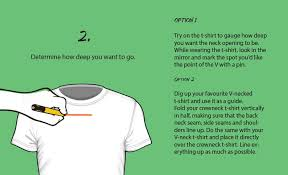 cre neck t shirt diy customisation tutorial easy no sew cutting ideas for guys
