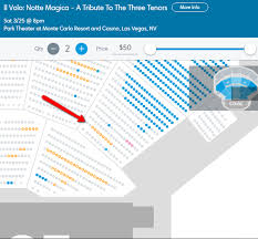 Park Theatre Las Vegas Seating Chart Things You Need To Know Il Volo Flight Crew Share The Love