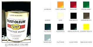 Bh Paint Color Chart Rustoleum Spray Paint Colors Rustoleum Spray Paint Colors