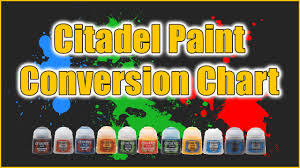 Citadel Paint Conversion Chart
