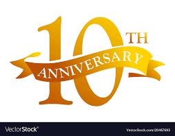Anniversary Ribbon 10 Year Ribbon Anniversary Royalty Free Vector Image
