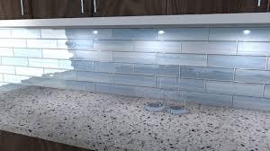 perfect blue glass tile backsplash
