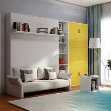 wooden furniture beds space saving pull
