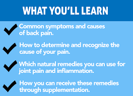 cure back pain and inflammation