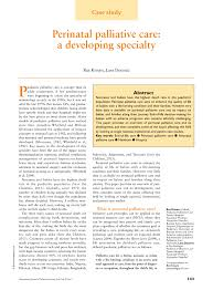 Perinatal Hospice Birth Plan Pdf Perinatal Palliative Care A Developing Specialty