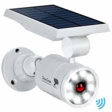 solar lights outdoor motion sensor aluminum 1400 lumens bright led spotlight 5w