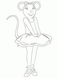 Small Picture Angelina Ballerina Feeling Excited Coloring Page To Print Nick