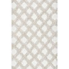 nuloom francene diamond trellis gy ivory 5 ft x 8 ft area rug