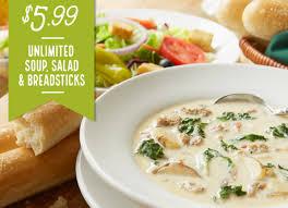 olive garden soup and salad offer