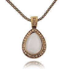 antique opal teardrop pendant necklace opal teardrop pendant