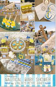 Nautical Table Settings Nautical Baby Shower In Blue And Yellow