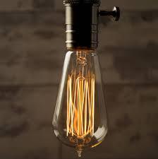 teardrop vintage style light bulb