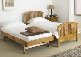 Wood Twin Pop Up Trundle Bed Frame