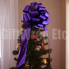 Christmas Tree Topper Bows  Package Perfect BowsPurple Christmas Tree Bows