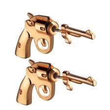 [32% OFF] <b>Trend Street Fashion Pistol</b> Piercing Earrings Jewelry ...
