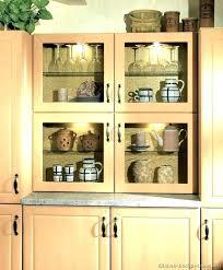 glass shelves for kitchen cabinets shelf light