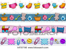 Baby Things Clipart Stock Illustration Of Baby Things Borders K4757156 Search Clip Art