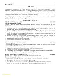 Executive Assistant Resume Awesome Administrative assistant Resume Summary Administrative 96