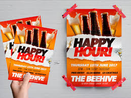 poster psd happy hour flyer poster psd template freebies solopress blog