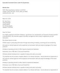 Cover Letter For Assistant Executive Assistant Cover Letter No