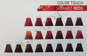 Wella Vibrant Reds Colour Chart Wella Professionals Color Touch Vibrant Reds Semi Permanent