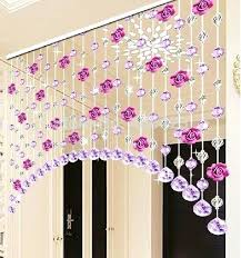 doorway room divider glass crystal beaded and flower strands arch style curtain in curtains from home garden on door decorating ideas for school