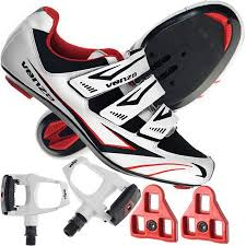Venzo Road Bike For Shimano Spd Sl Look Cycling Bicycle Shoes Pedals