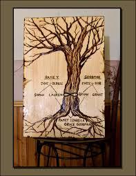 Family Tree Art Wood Burned Art Pyrography Wine Art Bar Art Wood