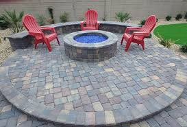 view larger image custom round paver firepit