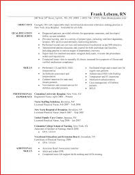 Rn Resumes Sample Nursing Resume Lvn Template Nurse Examples Med
