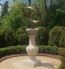 large brass armillary sundial 28 d