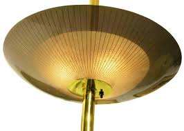 brass triple light floor to ceiling tension pole lamp saay for