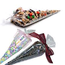 details about party bags cone shaped crystal clear cello gift bags 7 5 x17 100bags us ship